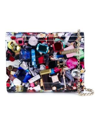 embellished candy clutch print bag
