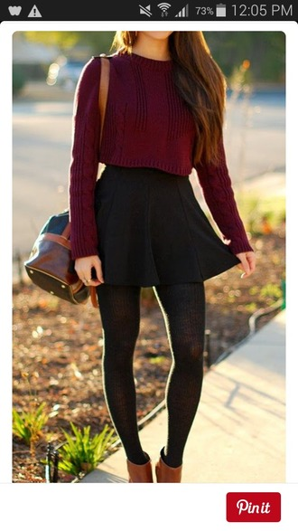 top red crop tops comfy long sleeves girly
