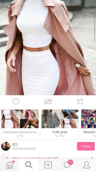 coat long coat pink coat fall outfits winter coat mid long coat fall jacket skirt