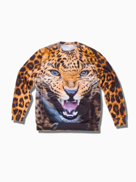 Leopard Print Sweatershirt (Women or Men) | Choies
