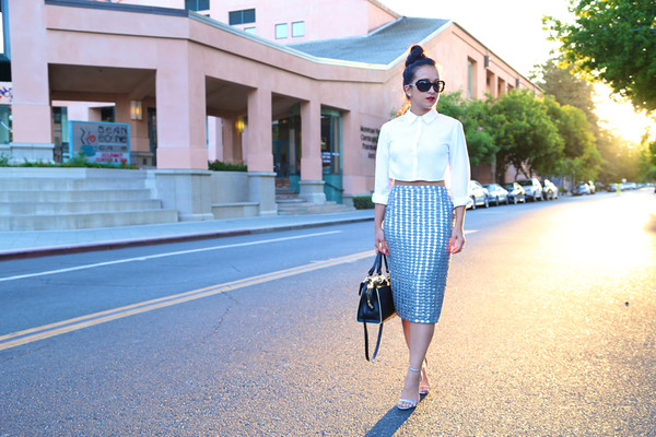 ktr style top blouse skirt shoes bag