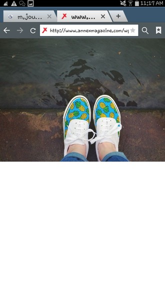 shoes white shoes blue shoes yellow shoes green shoes pineapple pineapples pineapple print pineapple shoes