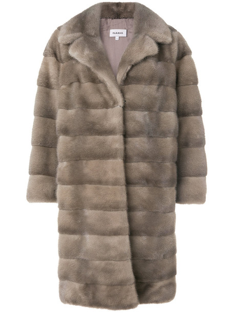 jacket fur jacket fur women silk brown