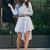 Lady's Elegant Shift Party A-line Striped Dress