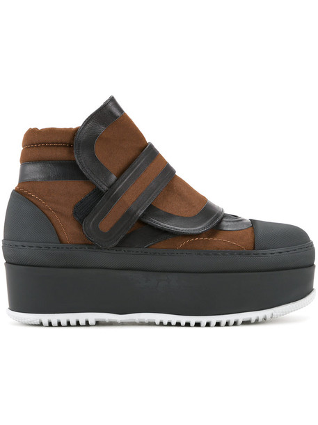 MARNI women ankle boots leather brown shoes