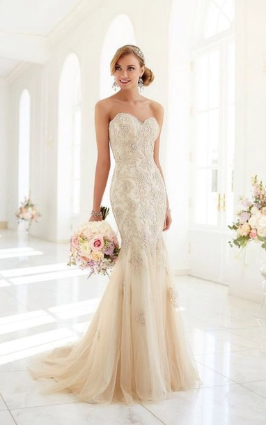 Dress Wedding Beaded Bling Style Fashion Strapless