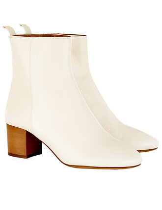boots ankle boots leather cream