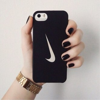 phone cover nike phone case phone iphone cover iphone case iphone 5 case iphone iphone 4 case nike case black white black and white watch nail polish nail accessories nails
