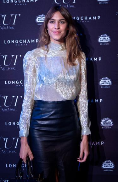 alexa chung fashion week 2014 blouse