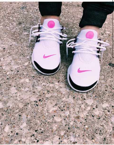 a6590959d9b79 shoes nike presto pink white and black nike shoes nike low top sneakers  white sneakers