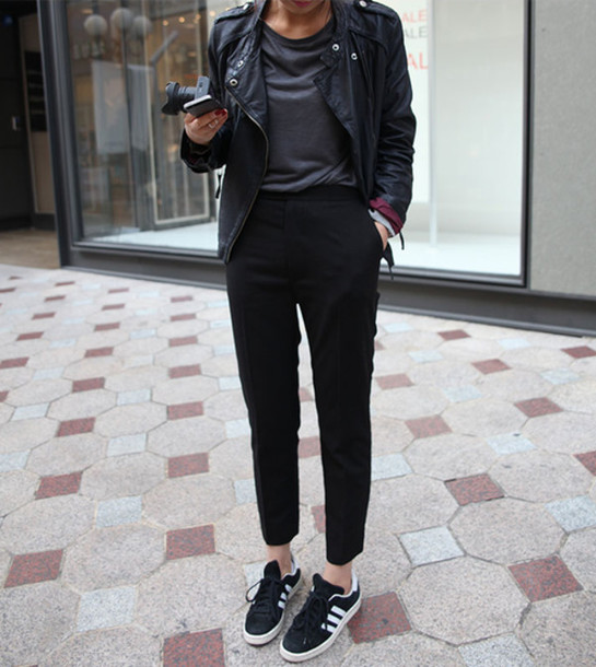 scarpe adidas, scarpe da ginnastica, nero, bianco, tumblr wheretoget