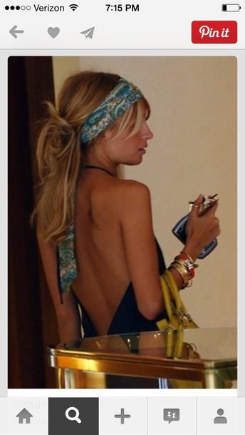 hat hippie hippie headband boho boho chic blue headband cute