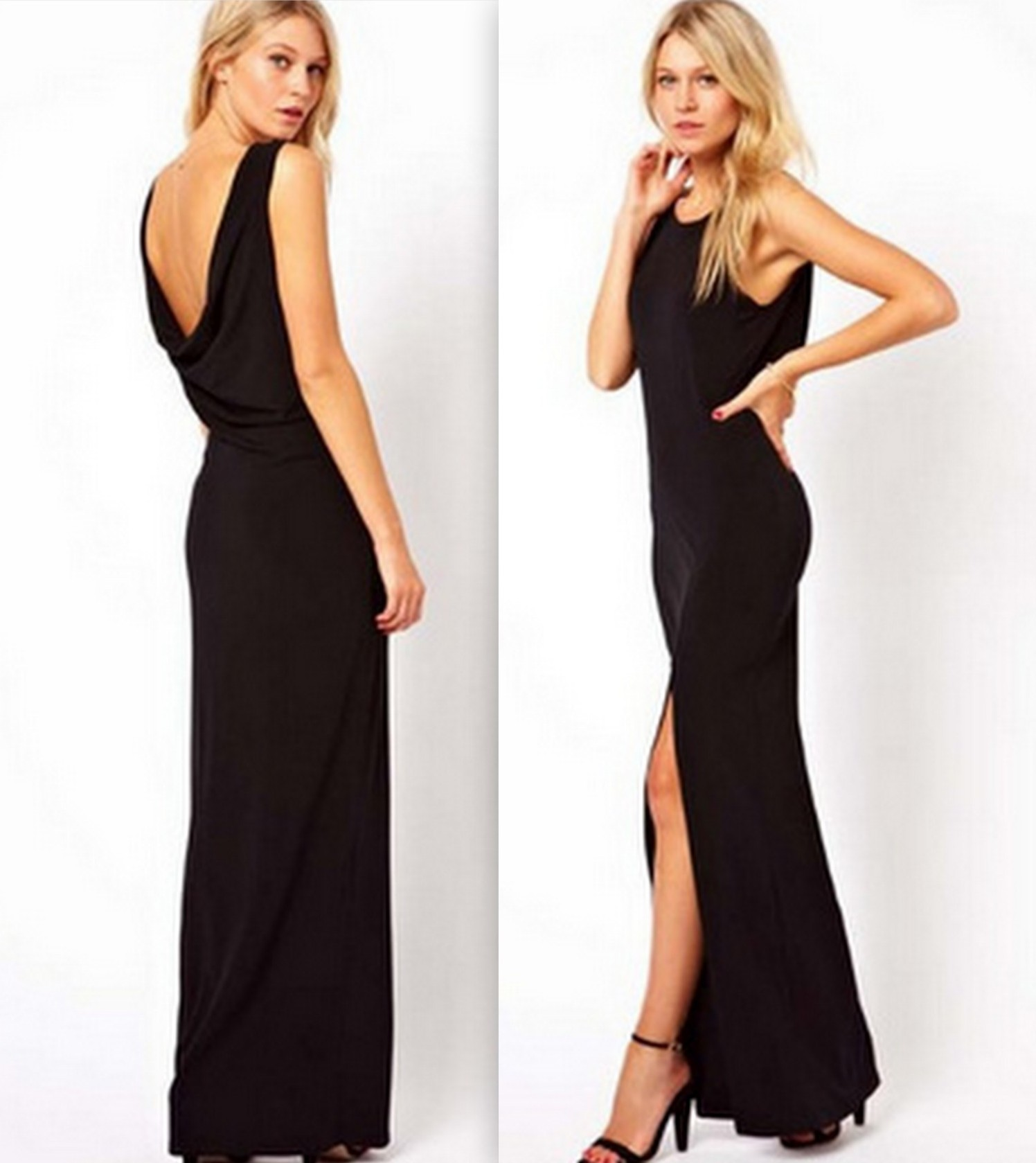 Deep v backless dress · fashion struck · online store powered by storenvy