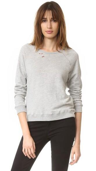 sweatshirt ripped grey heather grey sweater