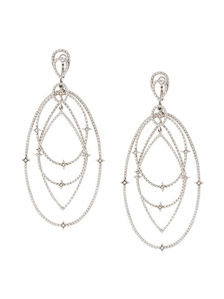 Loree Rodkin women earrings gold white grey metallic jewels