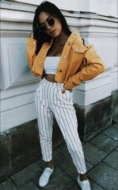 pants,stripes,white