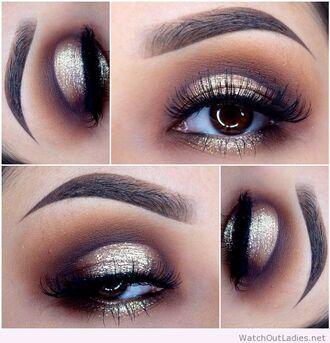 make-up golden black eye makeup eye makeups