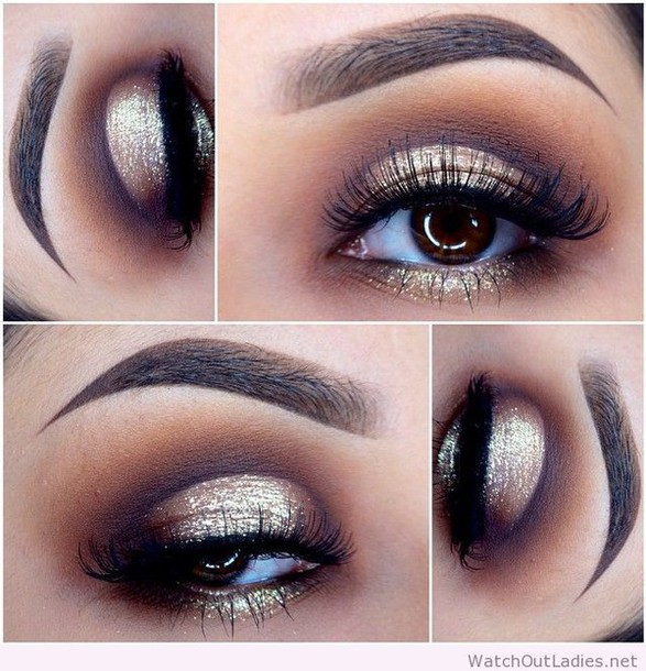 make-up gold black eye makeup eye makeup