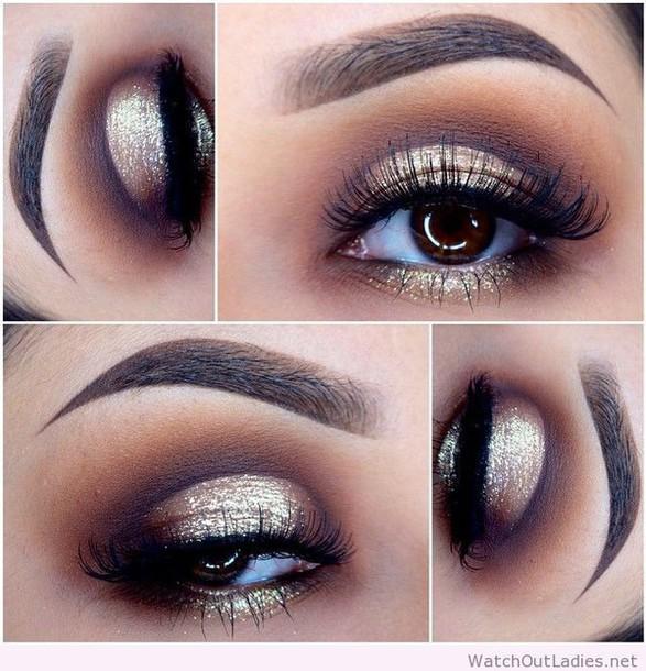 Make Up Gold Black Eye Makeup Eye Makeup Wheretoget