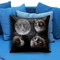 Grumpy cat funny face in moon pillow case