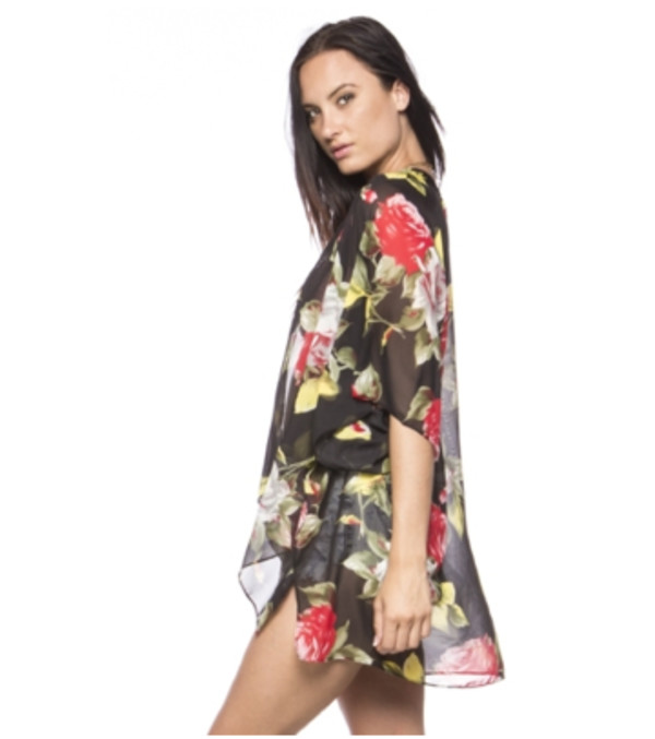 cardigan kimono rose cover up cover up cover up floral