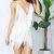 White Bodycon Deep V Multi Tiered Fringe Dress on Storenvy