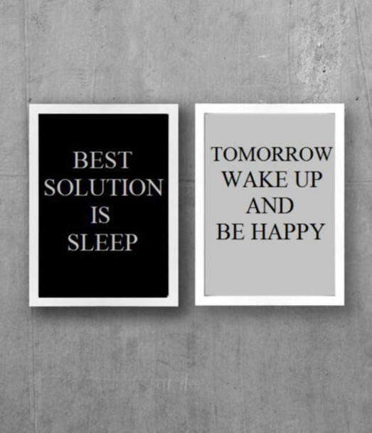 home accessory black and white pictures home decor sleep poster frame home decor quote on it