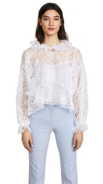 Jourden blouse lace white white lace top