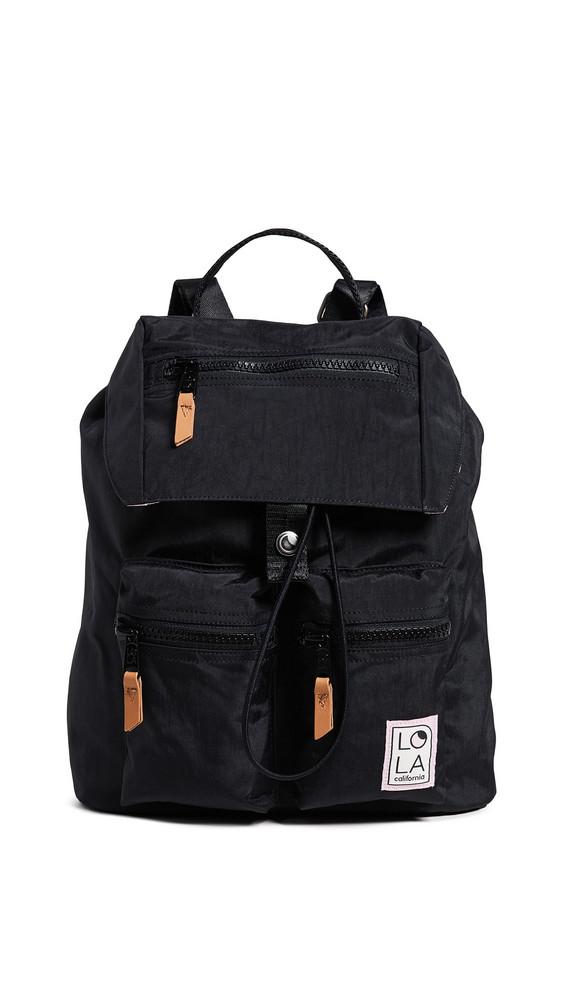 LOLA Phantasm Large Drawstring Backpack in black