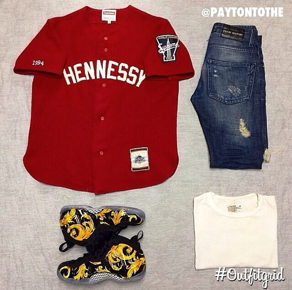 shirt jersey shoes jeans t-shirt