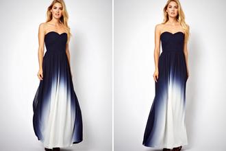 dress ombre dress long prom dress strapless dresses beautifuldress prom dresses /graduation dress .party dress blue dress