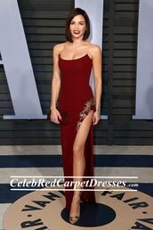 dress,oscars 2018,jenna dewan,strapless dress,prom dress