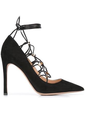 pumps lace black shoes