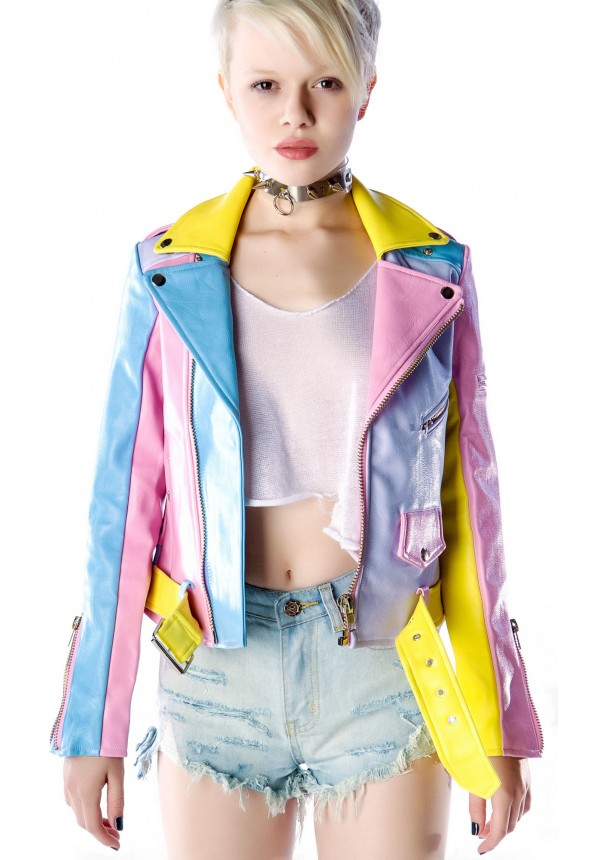 UNIF Pastel Moto Jacket | Dolls Kill