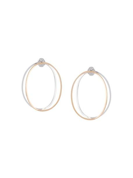 Delfina Delettrez women earrings hoop earrings gold grey metallic jewels