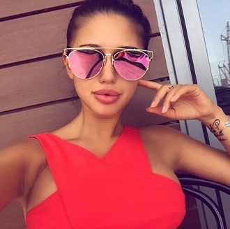 sunglasses pink shades cool