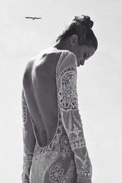 dress white lace formal long