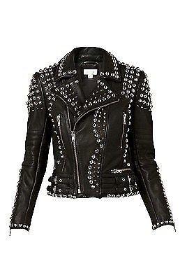Studded leather jacket ebay