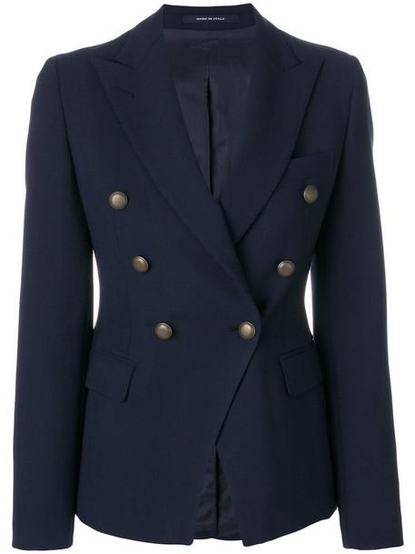 TAGLIATORE blazer women spandex blue wool jacket