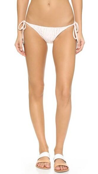 bikini bikini bottoms light pink light pink swimwear