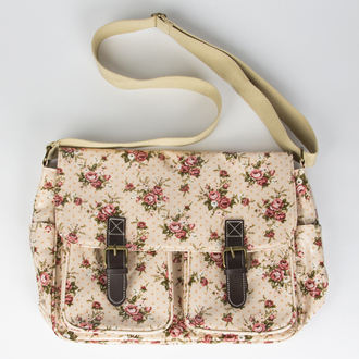 bag satchel floral flowers style girly