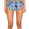 Blue baroque tile wrap side shorts