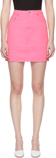 MSGM miniskirt denim pink skirt