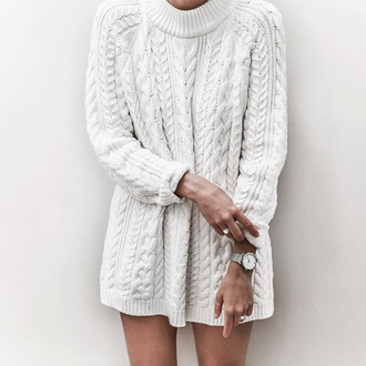 sweater cable knit sweater weather wool knitted sweater winter sweater white sweater