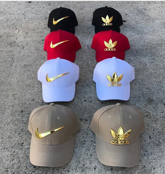 a39140fb054 hat cap adidas nike gold plate adidas hat white nike hat snapback white  white hat black