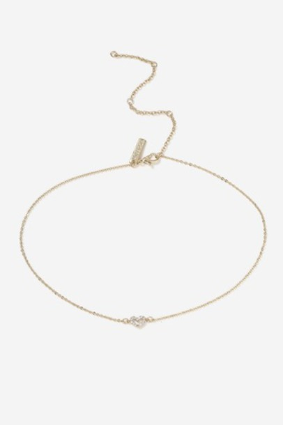Topshop heart clear necklace choker necklace jewels