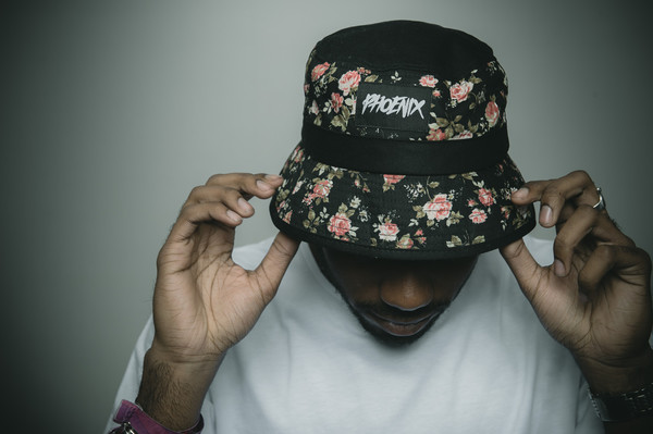 blackbeauty phoenix phoenixclothing bucket hat floral hat roses black headwear capsleeve