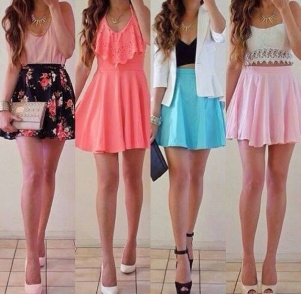 dress shirt skirt shoes tank top jacket