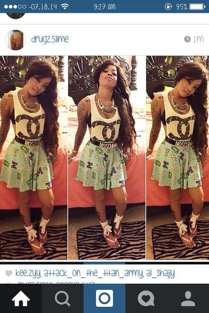 shirt shoes skirt