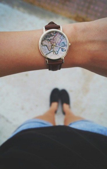 girl jewels vintage watch earth